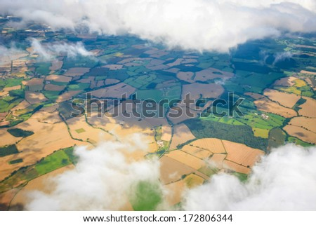 Cloud sky view from aeroplane - stock photo