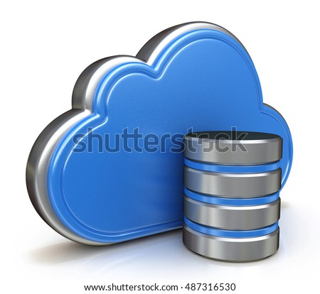 Cloud storage concept in the design of information related to internet. 3d illustration