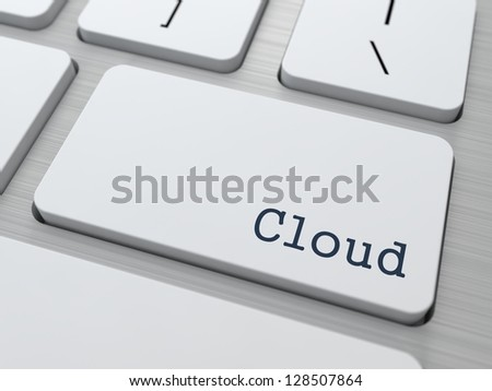Cloud Technology Concept. Button on Modern Computer Keyboard with Word Partners on It. - stock photo