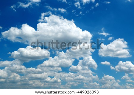 Cloud texture on blue sky