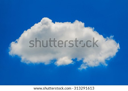 Cloud with blue sky closeup