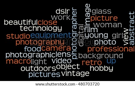 Cloud with photography words