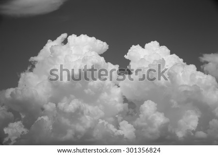 Cloud with sky