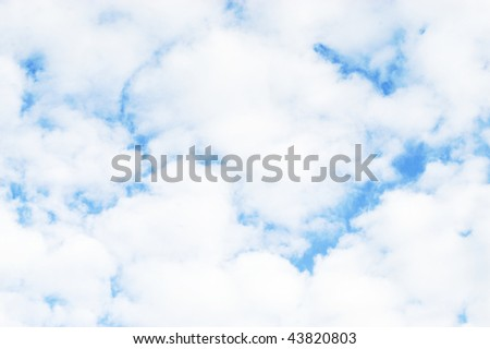 clouded sky - stock photo
