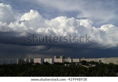 Clouds above the city