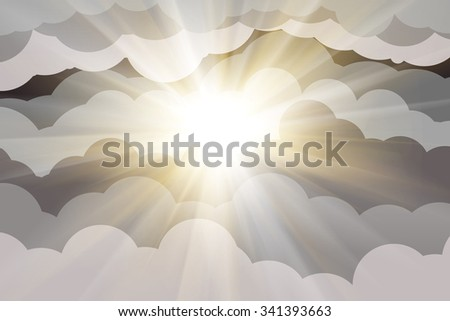 clouds abstract background and sun light