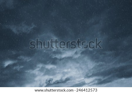 clouds and rain