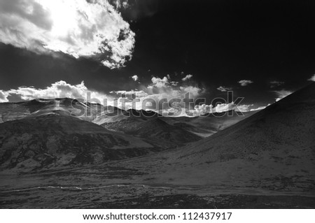 Clouds and Shadows in Cold Desert