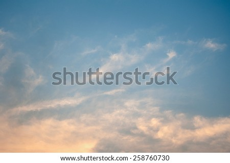 Clouds and sky during the twilight. - stock photo