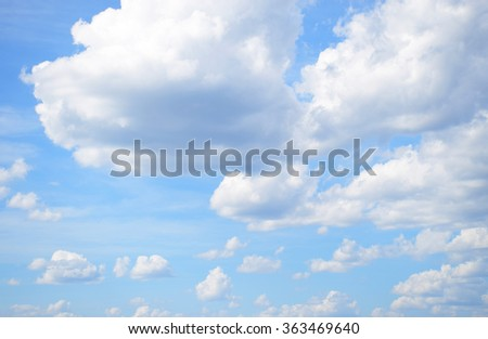 Clouds and sky in winter, Thailand