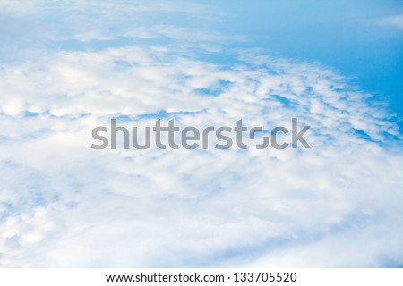 clouds and sky view from above
