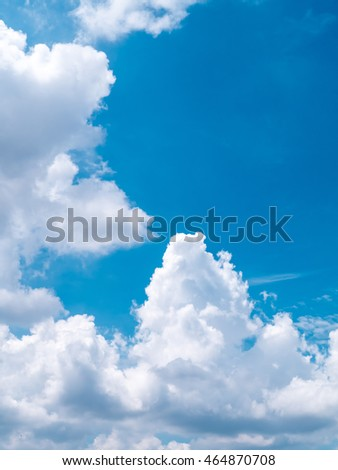 Clouds are layered arrangement beautifully in blue sky.