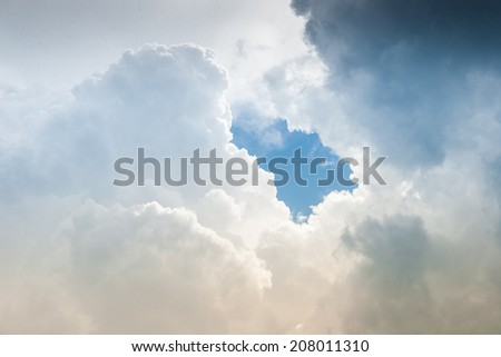 Clouds at storm sky in summer time