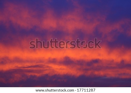 clouds at the sunset as a background