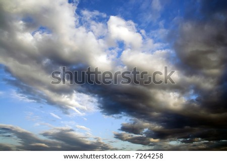 Clouds before rain - series - stock photo