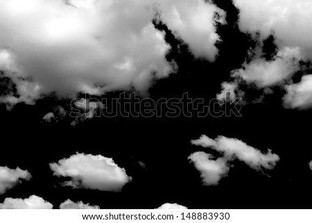 clouds, black and white