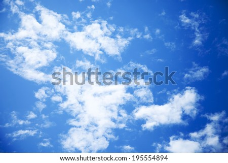 clouds, clouds, clouds, sunny day, sunshine, blue skies, white clouds - stock photo