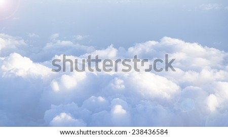 clouds,cloudscape,view from airplane - stock photo