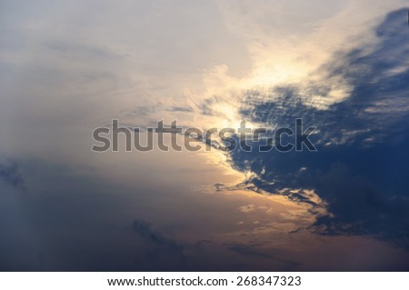 Clouds covering the sun