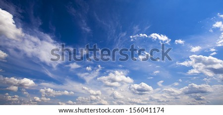 clouds. day time - stock photo