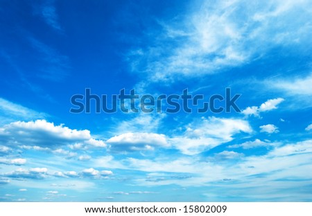 clouds floating away - stock photo