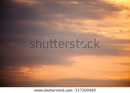 Clouds from a sunrise sky