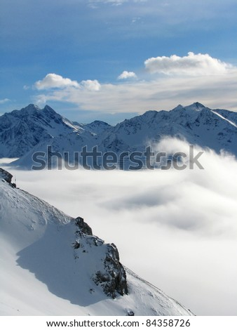 clouds in a valley