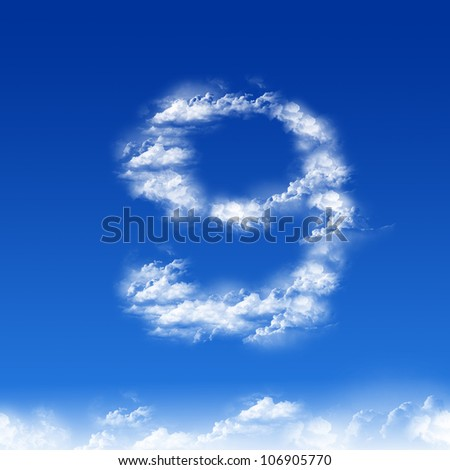 clouds in shape of figure nine