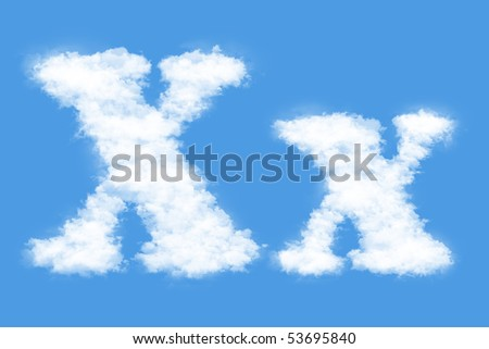 Clouds in shape of the letter X