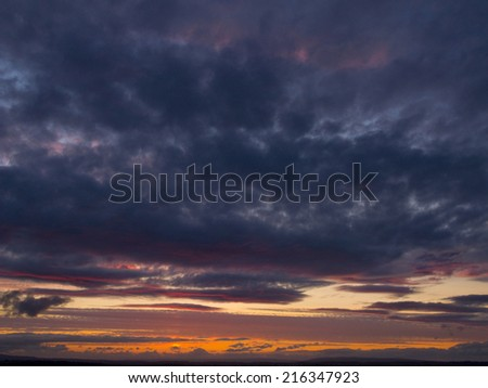 Clouds in sunset sky