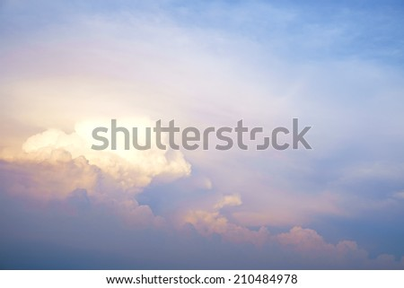 clouds in the abstract sky - stock photo