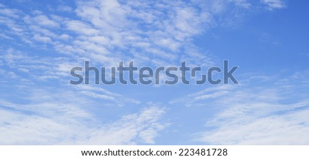 clouds in the blue sky .  - stock photo