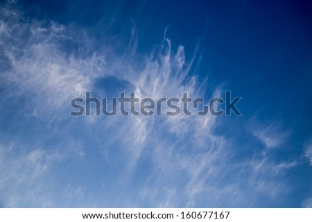 clouds in the blue sky as the background