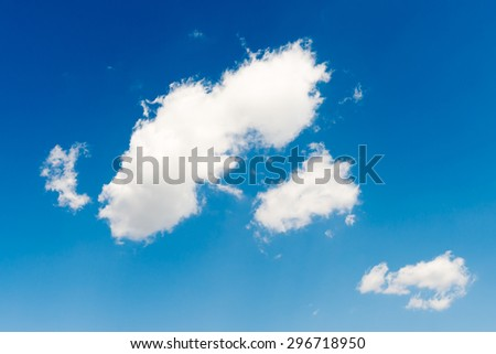 clouds in the blue sky background - stock photo