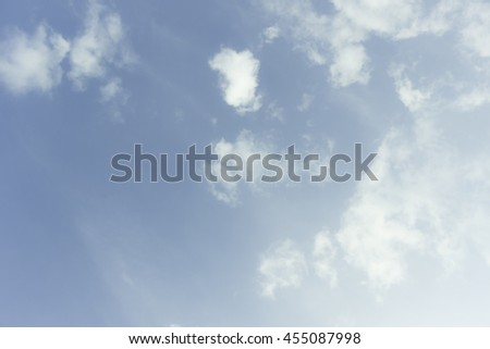 clouds in the blue sky sky, blue, cloud, background, sun, clear, white, summer, outdoor, light, heavens, spring, sunlight, nimbi, photo, nobody, view, day, atmosphere, seasonal, sunny, moisture,  - stock photo