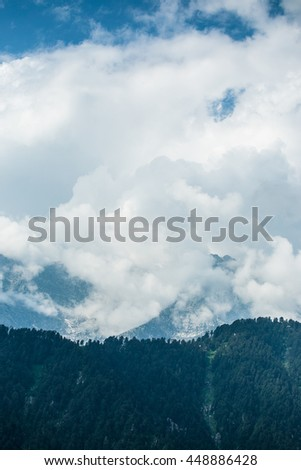 clouds in the sky above himalayan mountains