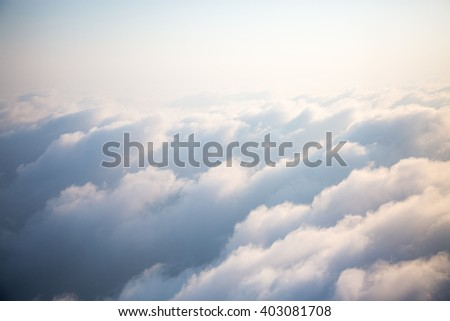 Clouds in the sky. Aerial View. - stock photo