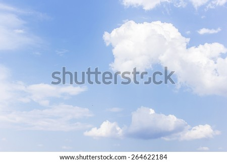Clouds in the sky background. - stock photo