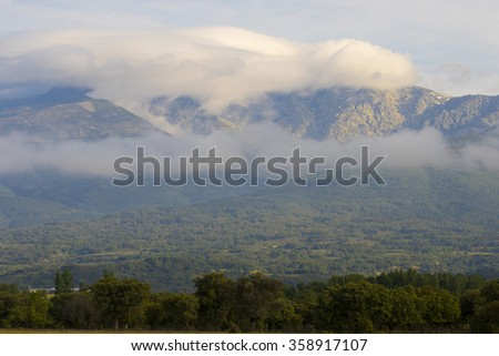Clouds ocer Gredo`s mountain