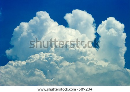 Clouds of thunderstorm - stock photo