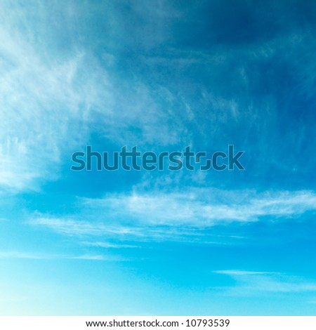 clouds on a background of the sky - stock photo