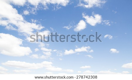 clouds on a blue sky day