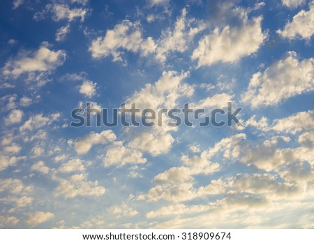 Clouds on a sky with scattered effect. - stock photo