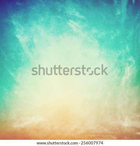 clouds on a textured vintage paper background