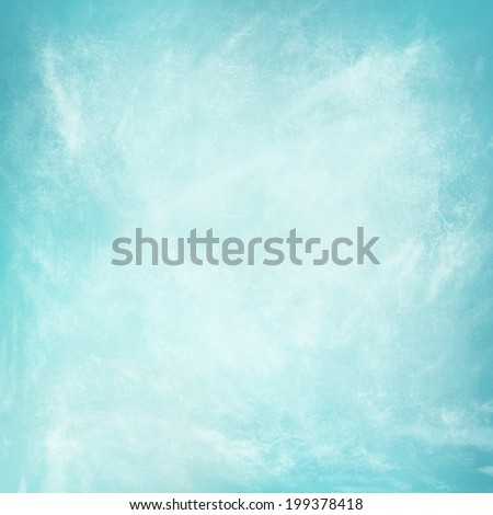 clouds on a textured vintage paper  background, with grunge stains. blue background. cool spring poster abstract canvas backdrop faded grunge background light blue color border - stock photo