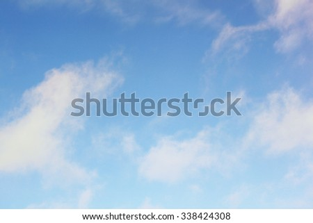 Clouds on blue sky - stock photo