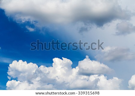 Clouds on blue sky background - stock photo