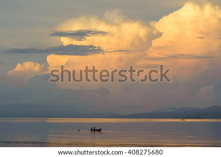 Clouds on the sea