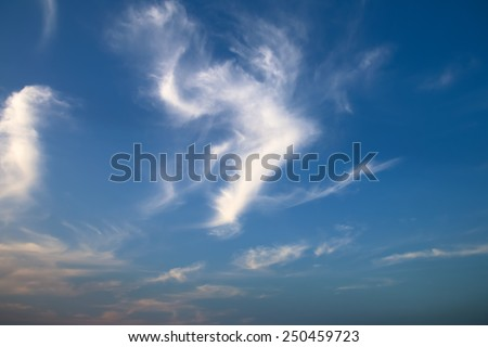 Clouds on the sky in the evening, Sky background
