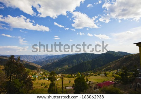 Clouds over mountain range, Kufri, Shimla, Himachal Pradesh, India - stock photo